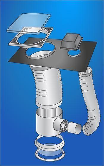 Extractores Para Cuartos De Bano.El Kit De La Fuente Extractor Para El Cielo Tunel Xl2 Es