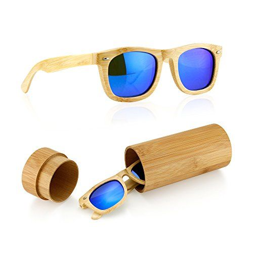 8db8d6c9b9 GEARONIC TM Wood Wooden Mens Womens Bamboo Vintage Sungla... http