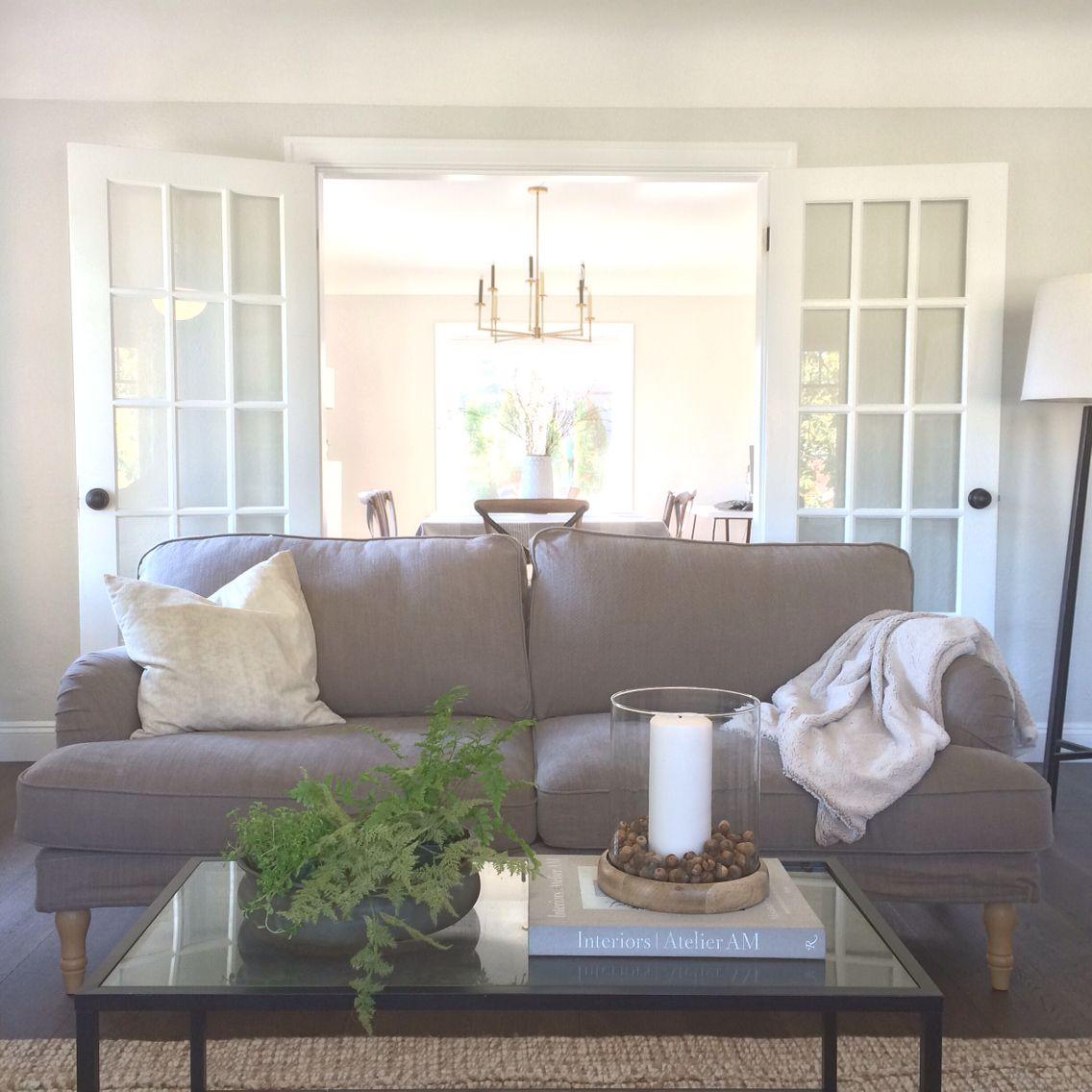 Neutral living room. Ikea Stocksund. | Wohnzimmer | Pinterest ...