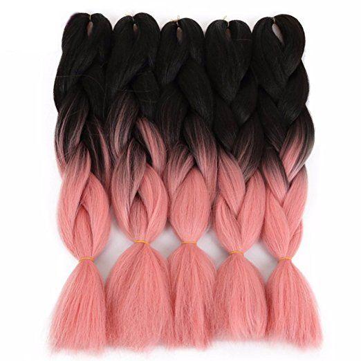 Amazon Com 165g Pctwo Tone Ombre Jumbo Braid Hair Extensions 5pcs Lot 32inch Synthetic Kanekalon Brai Braided Hairstyles Braid In Hair Extensions Hair Fibers