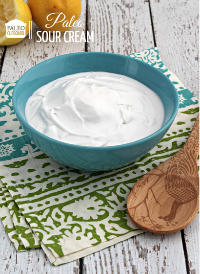 Paleo Sour Cream Recipe Sour Cream Recipes Paleo Condiments Vegan Sour Cream
