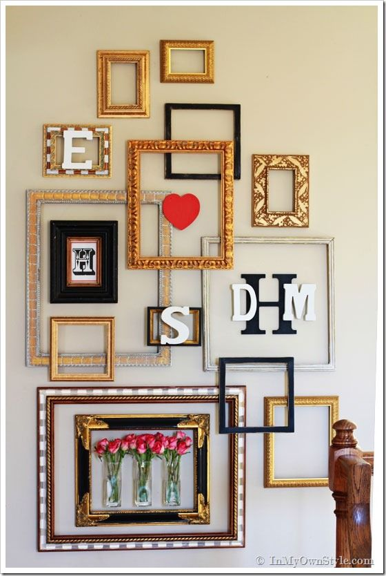 Picture Frame Gallery Wall With A Valentine Surprise
