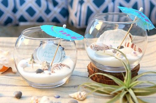 diy beach wedding tea light centerpiece weddingomania weddings