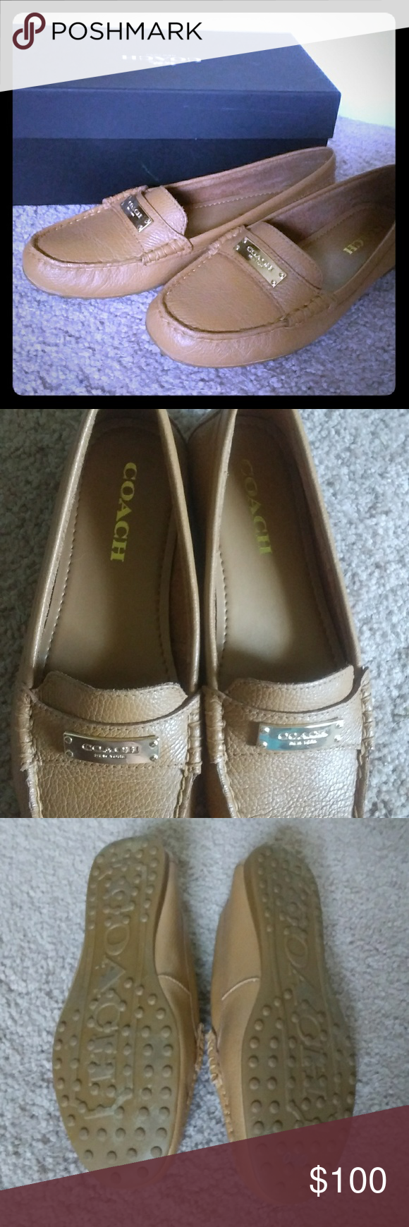 58631a2e64e Coach Fredrica Loafers These very mustard colored gently worn loafers (worn  3x) are comfortable
