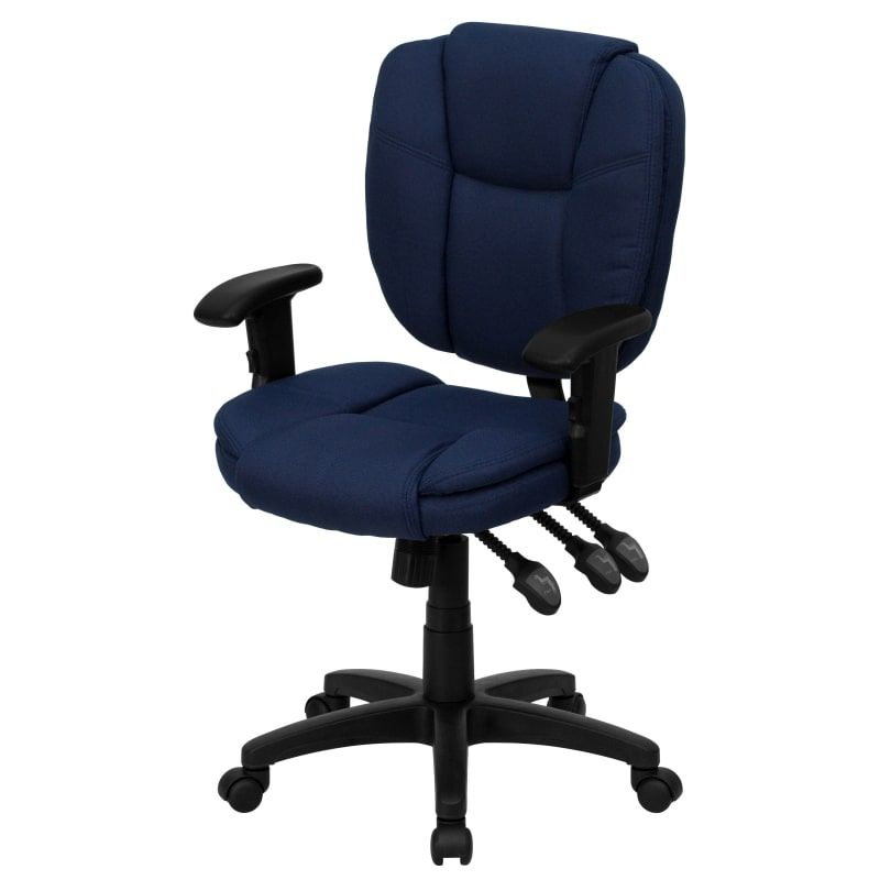 Delacora Go 930f Nvy Arms Gg 19 75 Inch Wide Build Com Task Chair Chair Furniture Chair
