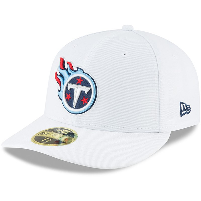 san francisco d36b6 ff0fe Tennessee Titans New Era Omaha Low Profile 59FIFTY Fitted Hat - White
