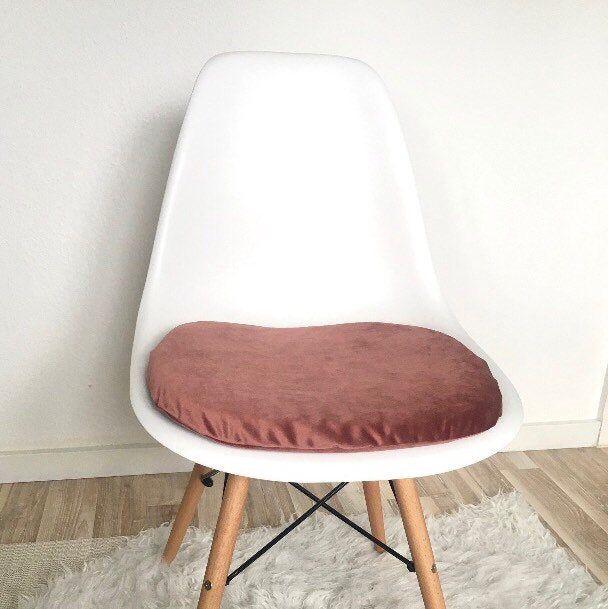 Sitzkissen Altrosa Eames Chair Eames Pad Gepolstert Samtoptik Rosa Eames Stuhle Samtstoff Kissen Reissverschluss Samt Kissen Sitzkissen Eames Stuhl Eames