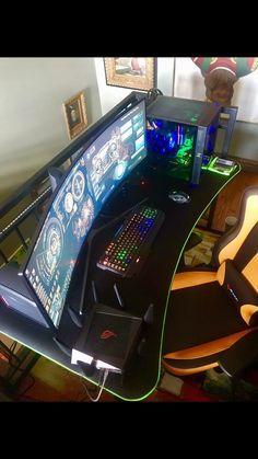 Office Desk Ideas #gamingsetup