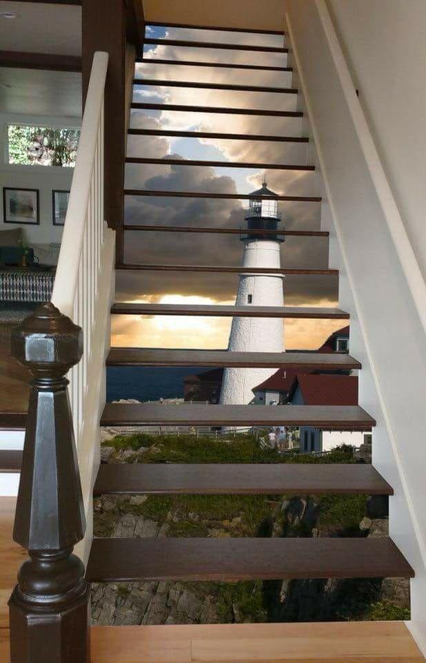 Eine brillante Möglichkeit, Ihre Treppen zu verschönern: Stairway Art Ideas - Haus Dekorationen #hausdekoration