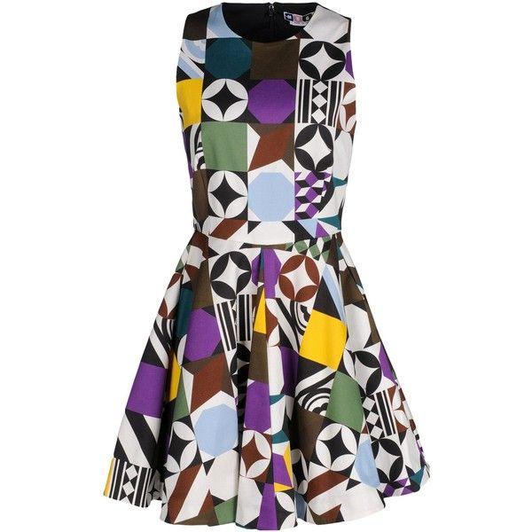 Msgm Short Dress ($270) ❤ liked on Polyvore featuring dresses, white, sleeveless dress, mini dress, msgm, msgm dress and white zipper dress