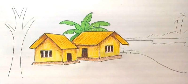 Cara Menggambar Pohon Di Teras Rumah