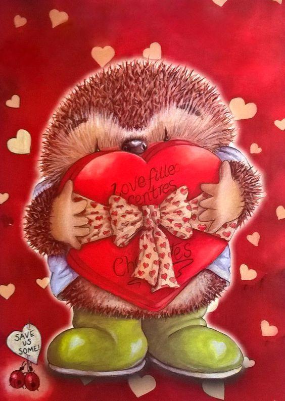 Картинки, ежик картинки прикольные с надписями про любовь