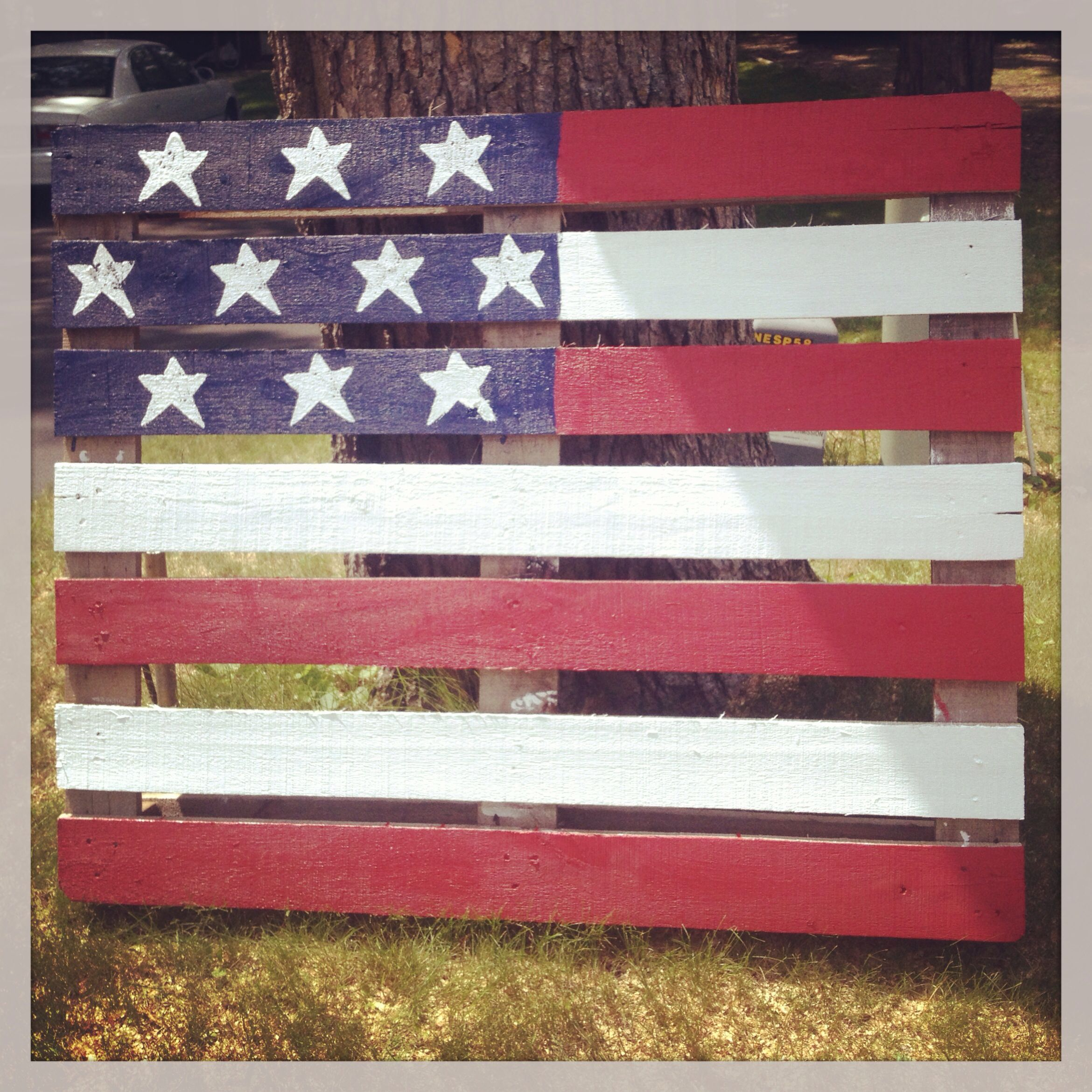 Diy 4Th Of July Pallet Flag  Show Your Red,
