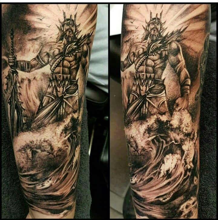Poseidon tattoo , Naughty Needles Tattoos