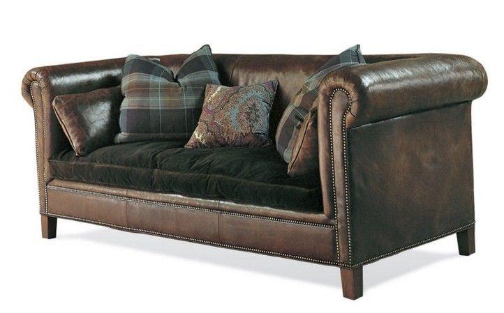 Ralph Lauren+sofa +leather+velvet+cushion+eclectic+room+home+decor+ideas+eclectic