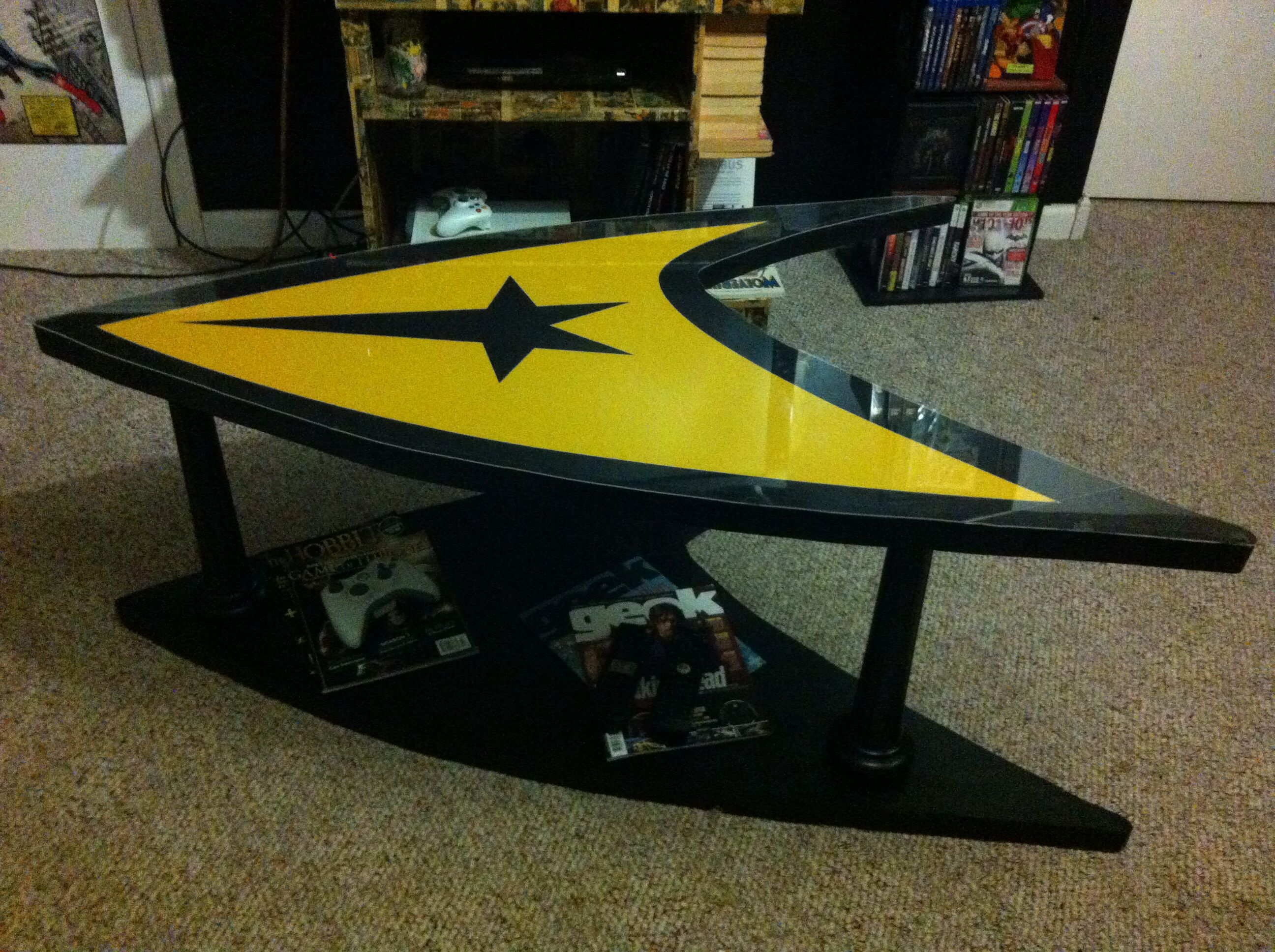 Geeky Coffee Tables Home Made Star Trek Coffee Table Made By My Aunt And Uncle