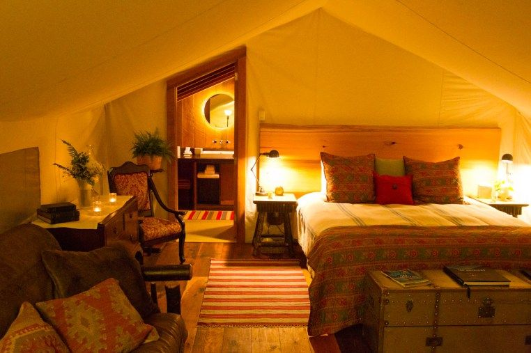 Inside Ensuite Tent Luxury Tents Tent Glamping Luxury