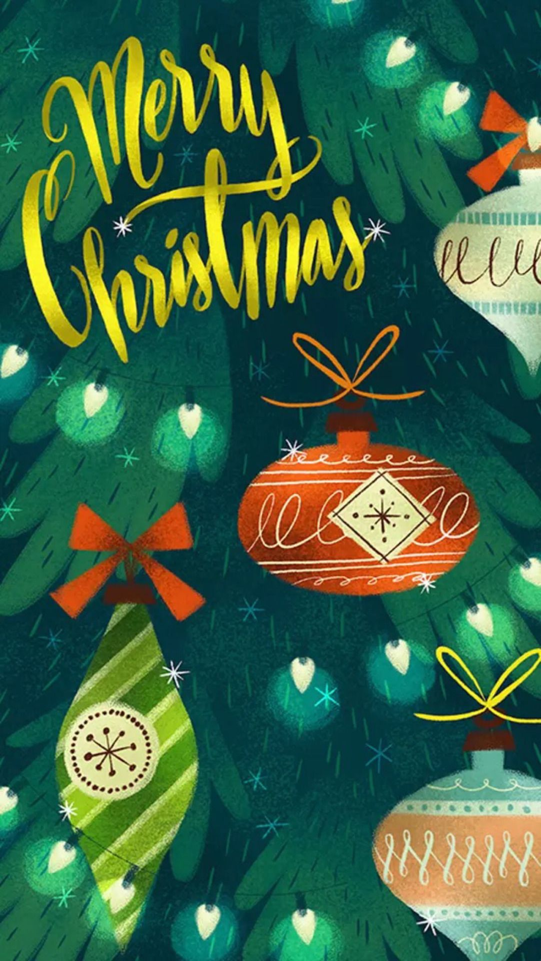 iPhone Wallpapers Christmas, Retro christmas, Vintage