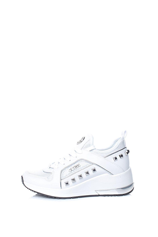 c799fa0f5b9 GUESS - Γυναικεία sneakers GUESS JULYANN λευκά, 2019 | Sneakers ...