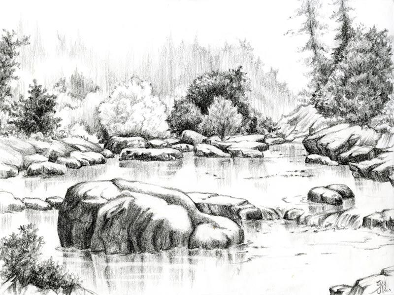Beautiful sketches of nature nature pencil drawings