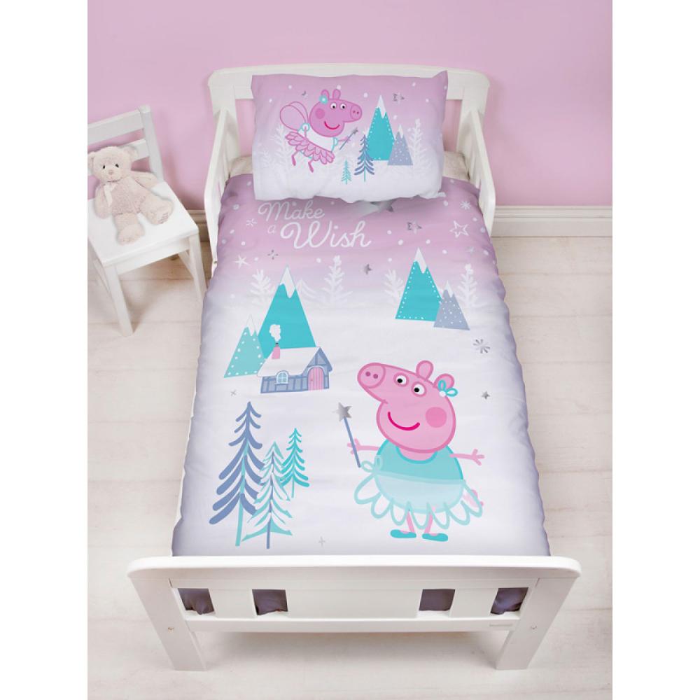Peppa Pig Sugarplum Junior Toddler Duvet Cover Set