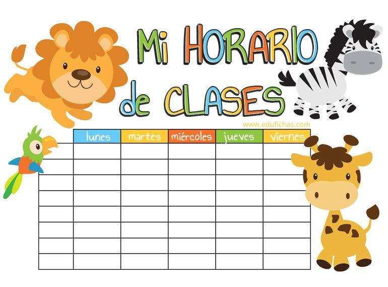 Printables De Horarios Para Ninos Horario Para Ninos Horario De Clases Horario Preescolar