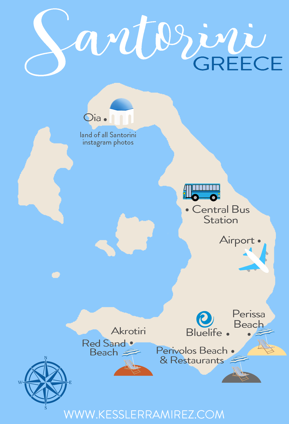 Travel Guide To Santorini Greece Santorini Santorini Map