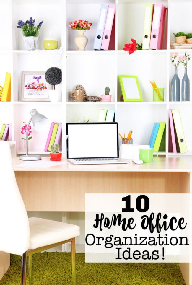 Here are 10 home office organization ideas you need! Get