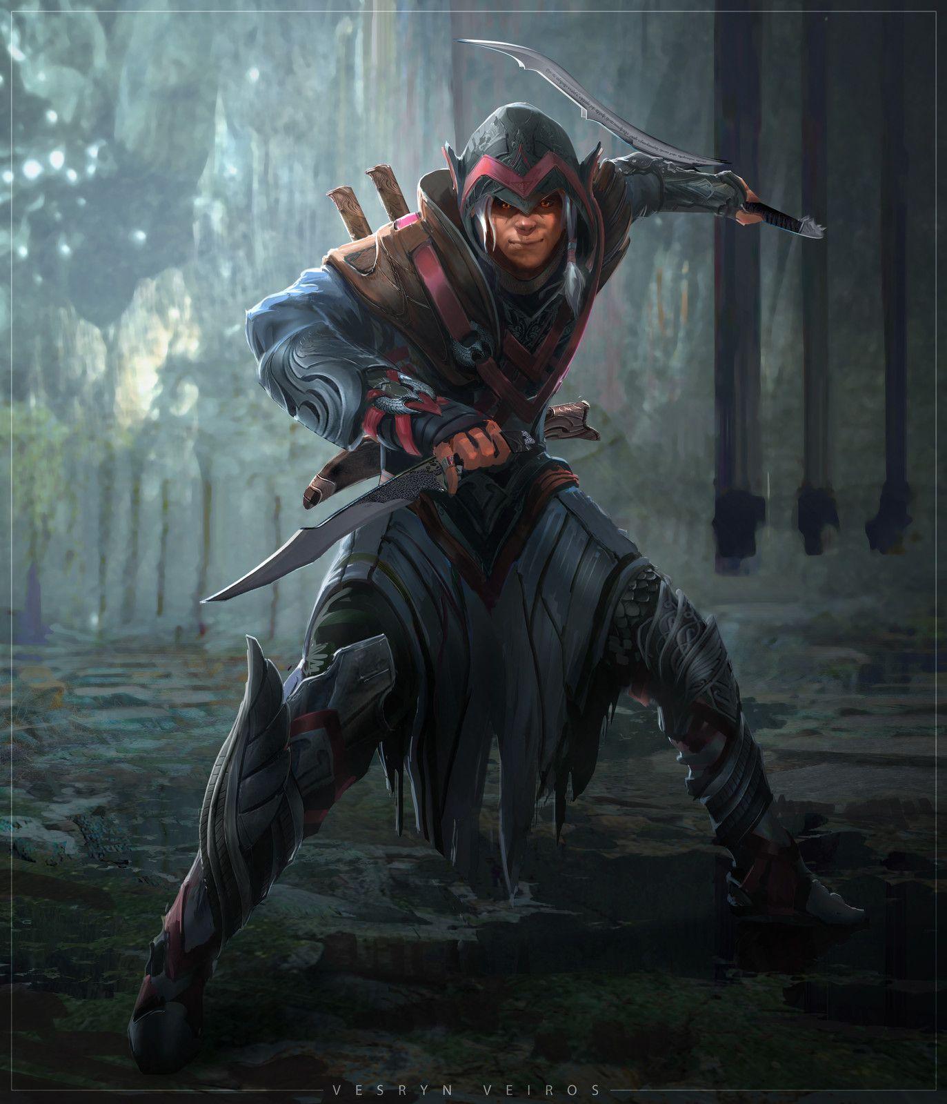 Vesryn Veiros, Kenny Vo on ArtStation at  https://www.artstation.com/artwork/1Gmb8 | Fantasy art warrior, Fantasy  character design, Dungeons and dragons characters