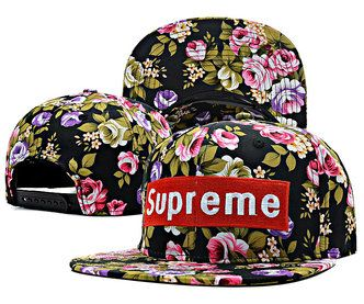 21249d77259 Supreme Floral Hat-Black