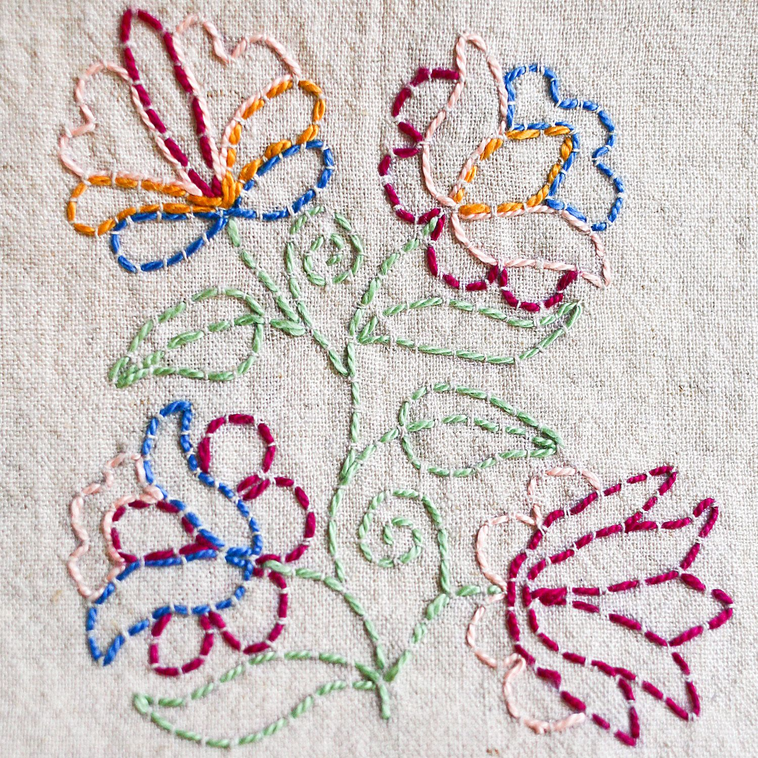 Outlining with running stitch a tutorial outlines embroidery and