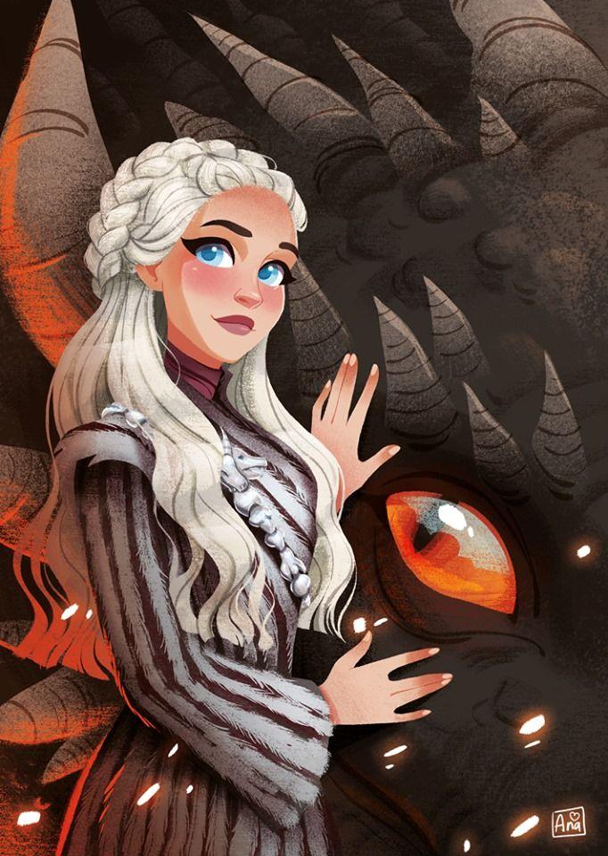 Daenerys By Ana Dragomir Targaryen Art Daenerys Targaryen Art Game Of Thrones Artwork