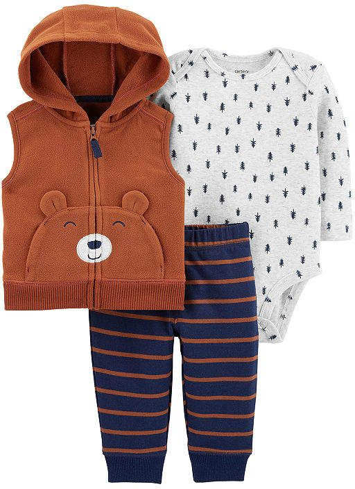 4478c6257 Carter's 3-pc. Bodysuit Set-Baby Boys | Products | Carters baby boys ...
