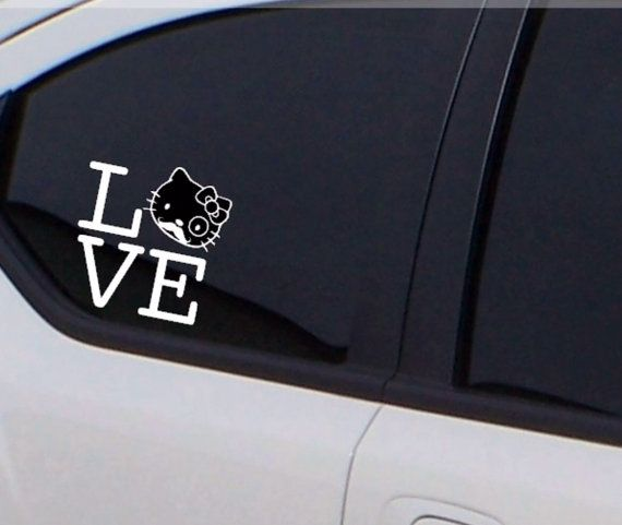 Hello Kitty Love Decal By ForBellaFlor On Etsy Hello Kitty Car - Hello kitty car decal stickers
