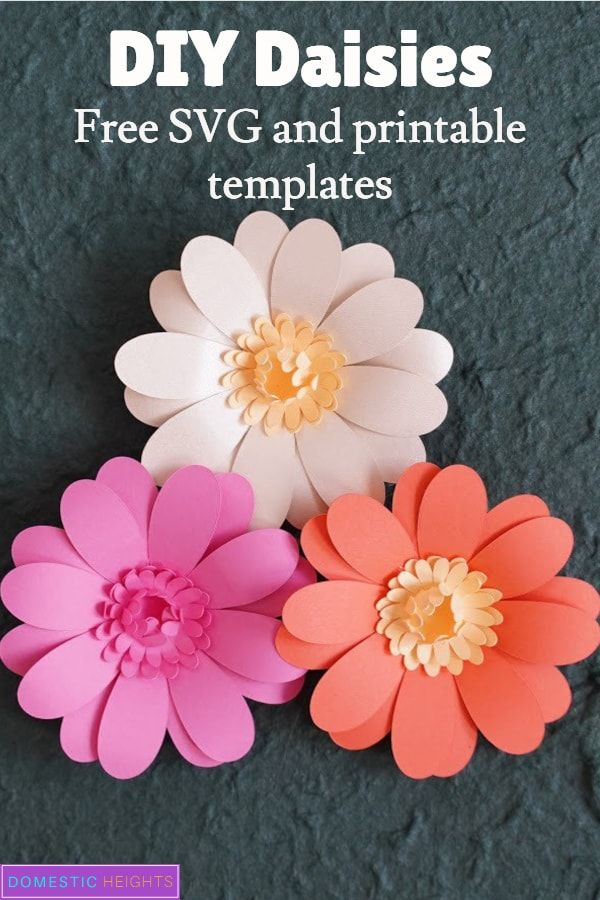 DIY Daisy Paper Flower - DOMESTIC HEIGHTS