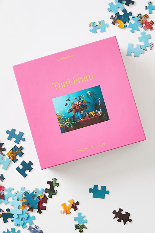A fresh idea for a self-care night? This 500-piece puzzle, which offers a soothing way to unwind after a long day.