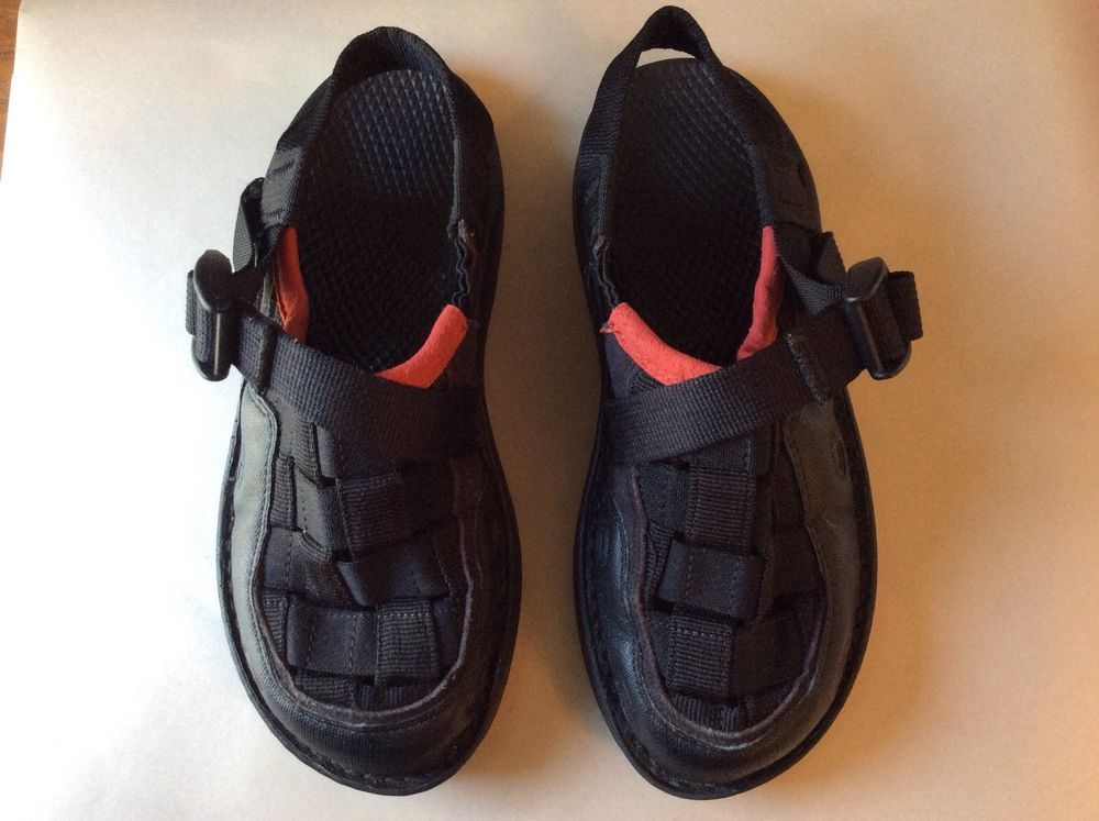 f66cfd52d0ca8 CHACO Sandals: Paradox Ecotread Size 4 Youth Kids Black w/ red ...