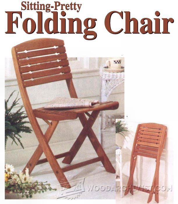 Folding Chair Plans - Furniture Plans and Projects | WoodArchivist ...