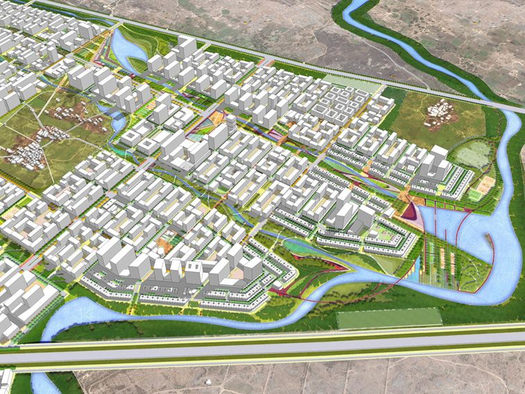 Wadala Commercial Center Master Plan ( Mumbai, India) Johnson Fain - copy blueprint denver land use and transportation plan
