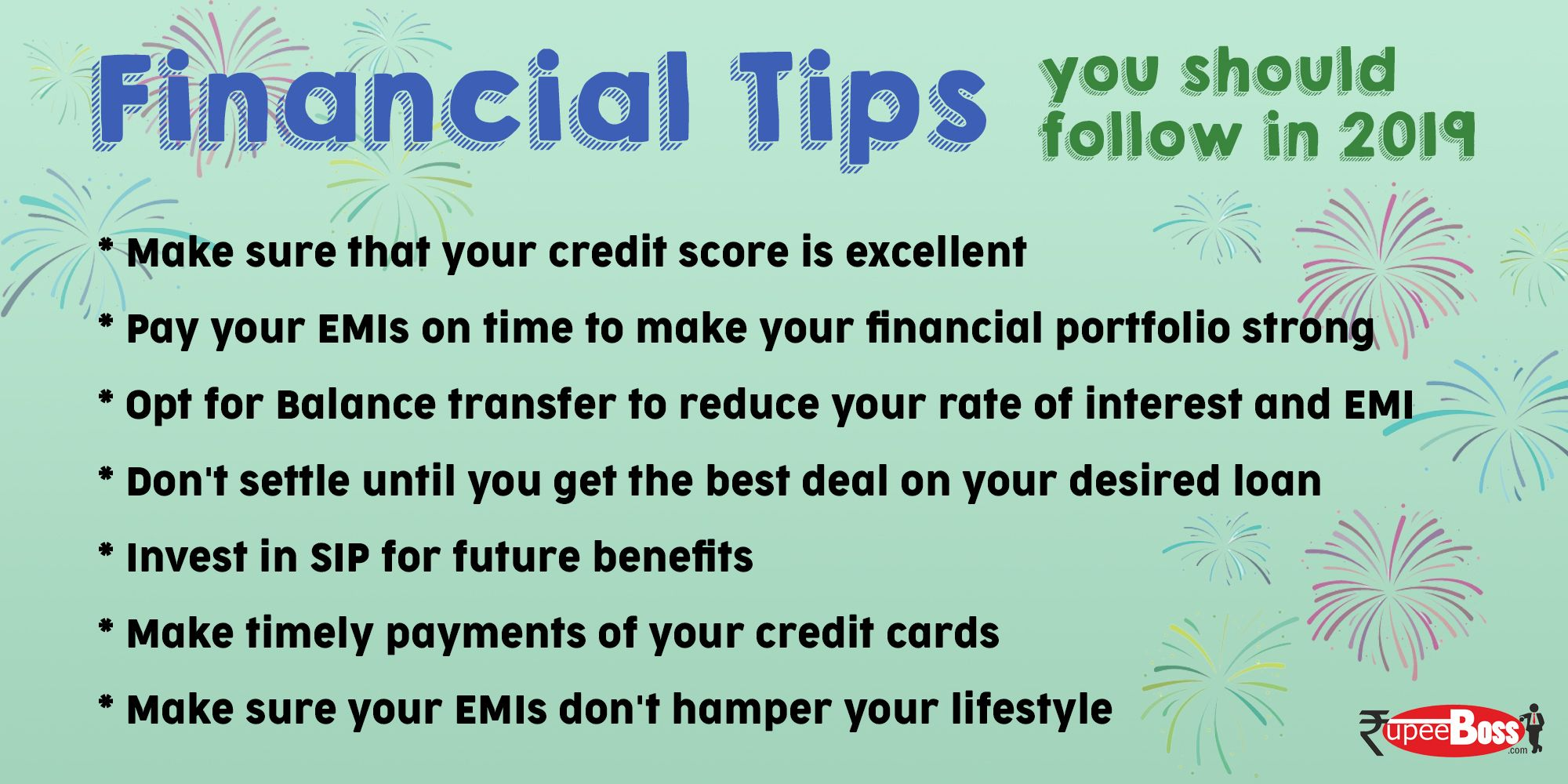 Rupeeboss Theloanexperts Newyear2019 Financialtips Loans Personalfinance Happynewyear Financial Tips Credit Score How To Apply