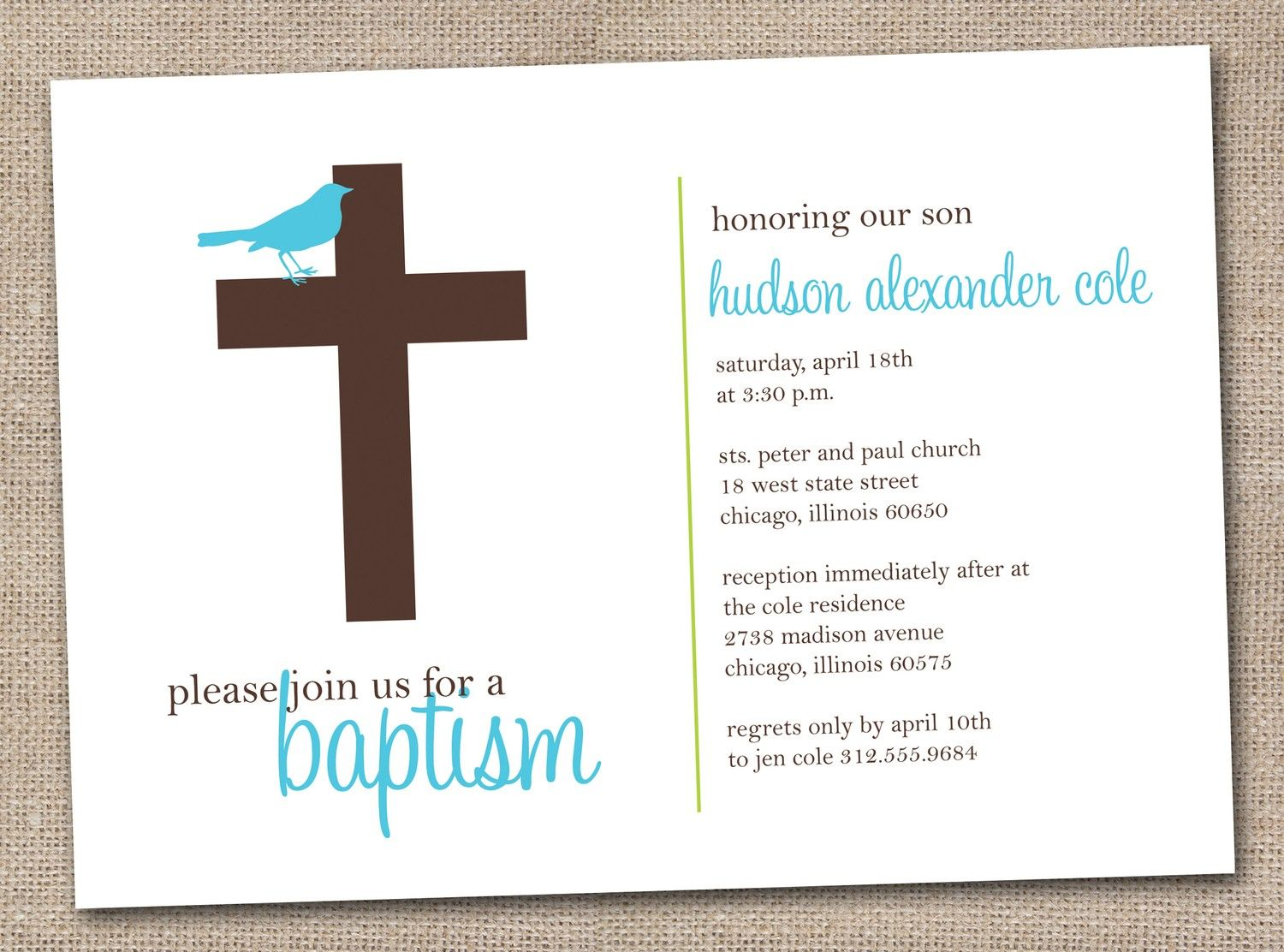 Baptism Invitations Maker Free