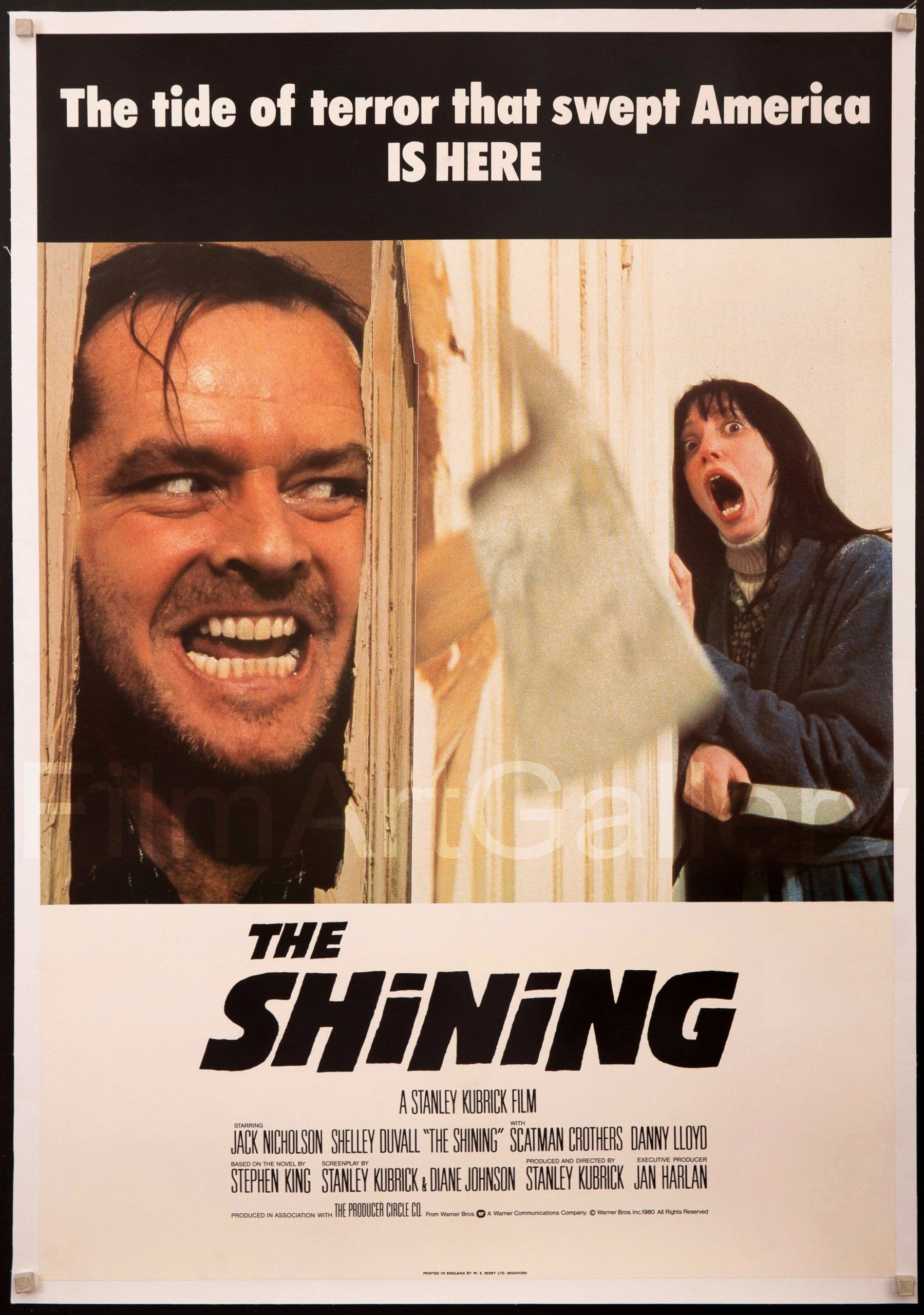 """/""""The Shining/"""" Jack Nicholson Classic Horror Movie Poster A1 A2 A3 A4 Sizes"""