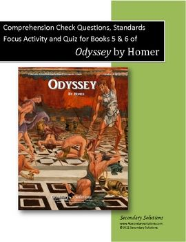 This Product For Books 5 And 6 Of Homer S Odyssey Includes 14 Comprehension Check Study Guide Question This Or That Questions Homer Odyssey Teaching Literature