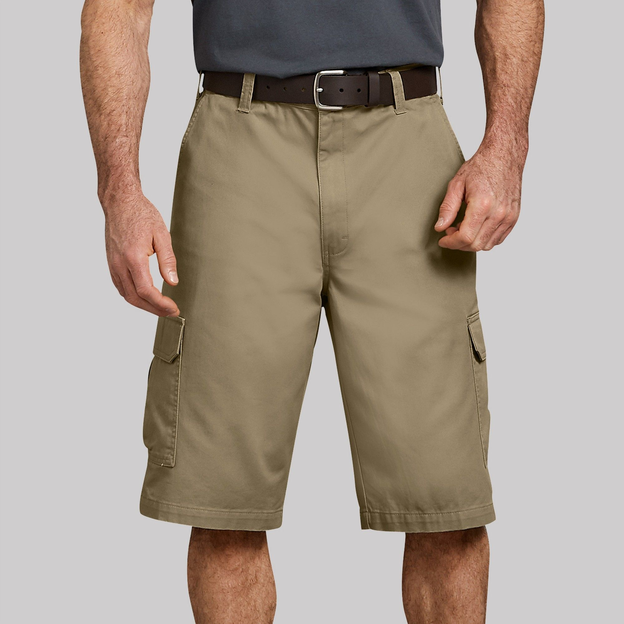 42d0a2771e Dickies Men's Big & Tall 16 Loose Fit Cargo Shorts - Khaki Heather ...