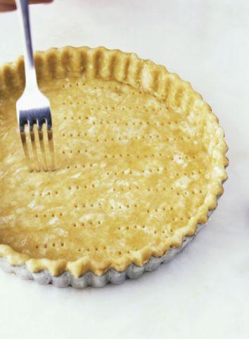 Gluten-Free Pie Crust Recipe - Three ingredients 1/2 cup shortening 1 1/2 cups rice flour  4 tbsp. cold water