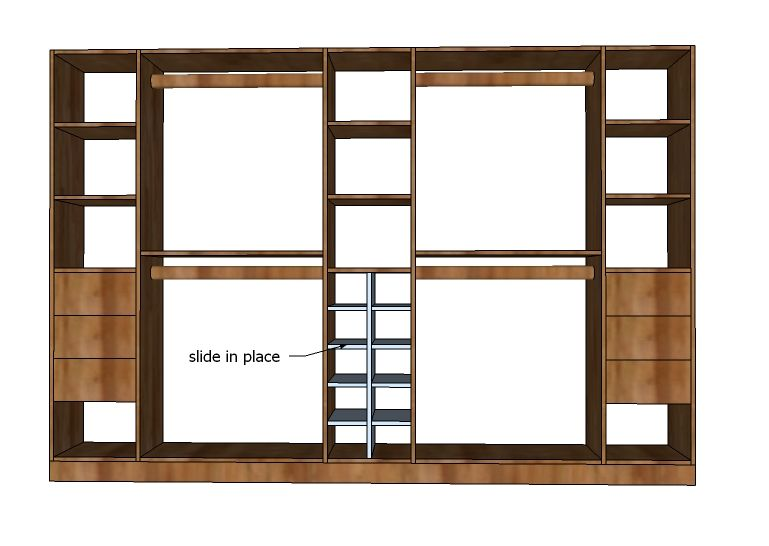 Ana White   Build A Master Closet System Shoe Cubbies   Free And Easy DIY  Project And Furniture Plans