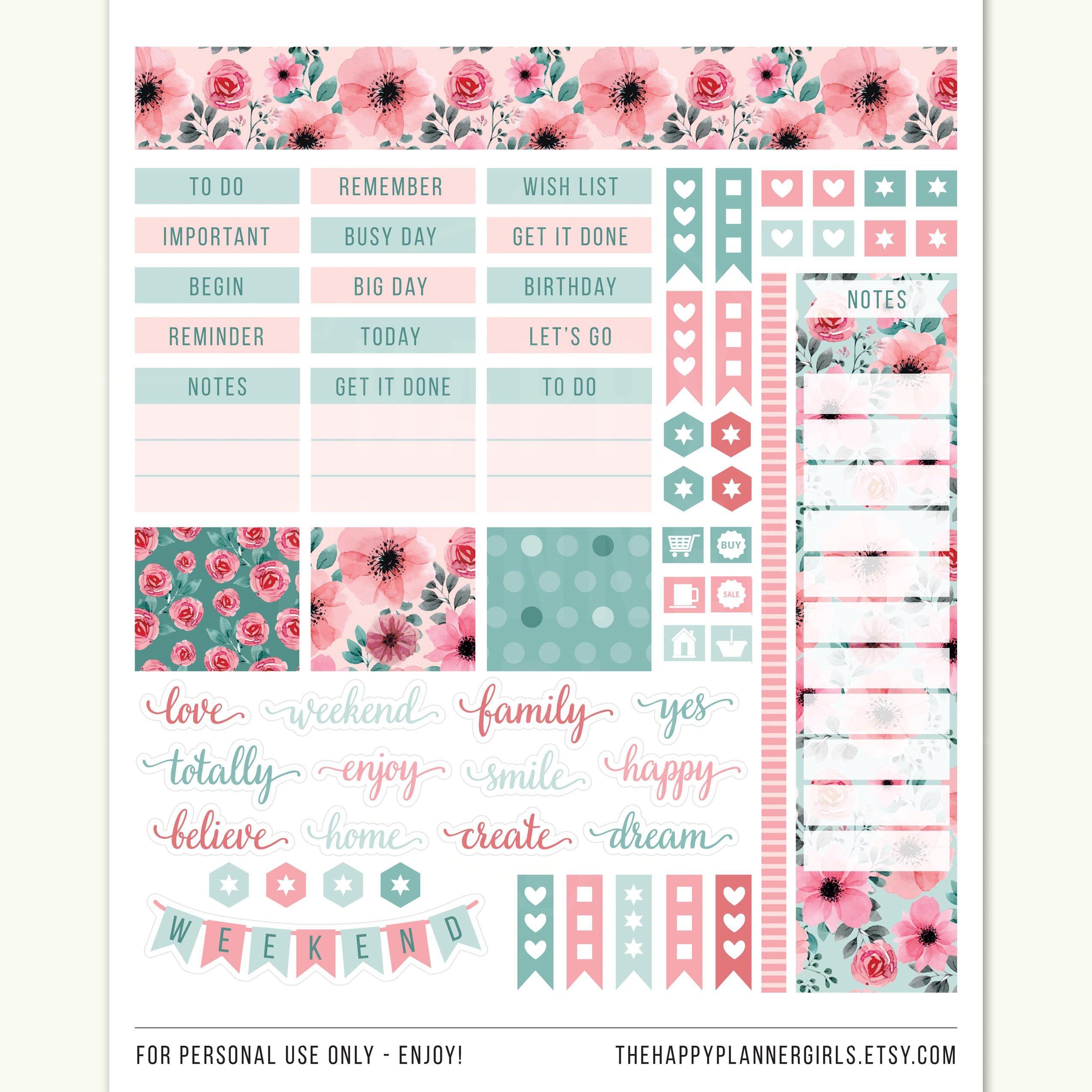 June Planner Stickers, Erin Condren June Printable, June