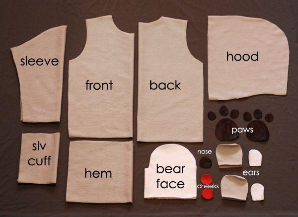 DIY:  Bear Hoodie --- Knock It Off Series ---//petitapetitandfamily.com