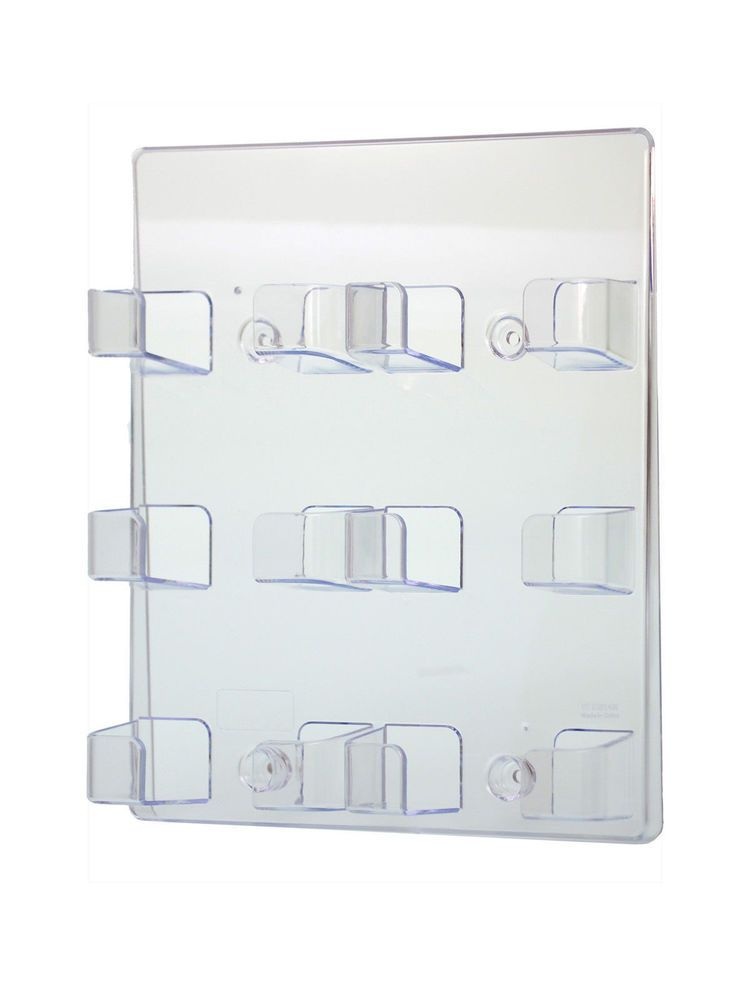 Clear Acrylic 6 Pocket Wall Mount Business Card Holder Display Stand ...