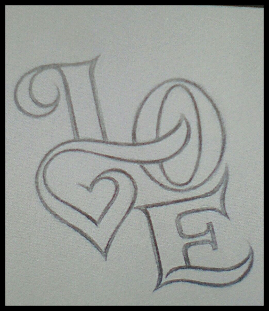 Love You With Images Pencil Drawings Of Love